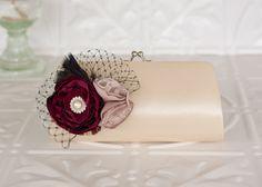 Vintage Inspired Ivory Satin Bridal Clutch Purse by MyVintageWeddingAust on Etsy