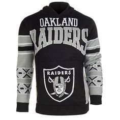 BRAND NFL OAKLAND RAIDERS Big Logo Ugly Sweater Raiders Team 98644383c78