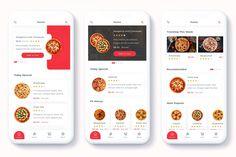 Denrit - Pizza Delivery App UI Kit is designed with modern design trends. Mobile Ui Design, App Ui Design, Web Design, Pizza Delivery App, Specials Today, Ui Kit, Website Template, Mobile App, Templates