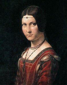 Dama del 1400 retratada por el maestro Leonardo.