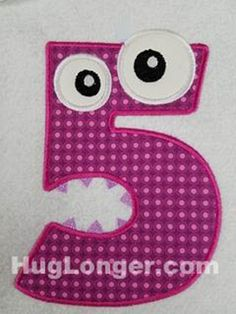 Applique Monster Five embroidery file HL1084   Craftsy
