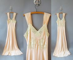 1930s NightGown / Floral Bust Slip / 30s by TheSlipperie on Etsy, $108.00