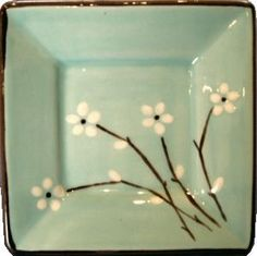 japanese style design square ceramics plate