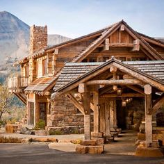 Our Dancing Hearts project in Montana is made out of the same regional stone and timber that surround it. #alpine #AlpineArchitecture #nofilter #AlpineLiving #Montana #landscape #nature #MontanaArchitecture #architecture #architect #rustic #timber #stone #home #house #PearsonDesignGroup #PDG