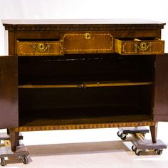 Early 19th Century Louis XVI Serving Commode or Lift Top | From a unique collection of antique and modern commodes and chests of drawers at http://www.1stdibs.com/furniture/storage-case-pieces/commodes-chests-of-drawers/