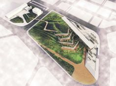 12 Projects Win Regional Holcim Awards 2014 for Africa Middle East,GOLD: Eco-Techno Park: Green building showcase and enterprise hub. Image Courtesy of Holcim Foundation Museum Architecture, Concept Architecture, Amazing Architecture, Landscape Architecture, Architecture Design, Architectural Thesis, Green Roof Benefits, Green Roof System, Techno