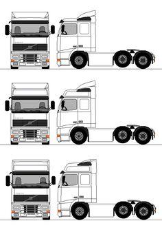 Bergli Truckstop - www. Volvo Trucks, Mack Trucks, Hot Wheels Storage, Blueprint Drawing, Wooden Toy Trucks, Car Tools, Truck Design, Car Drawings, Model Building