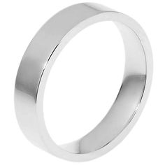 14K White Gold, Flat Comfort fit, 5.0 mm Wide Wedding Band | Item#114751W by Wedding Bands. $355