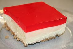 JELLO cheesecake squares . http://hkcanbake.blogspot.com/2011/10/jello-cheesecake-squares.html
