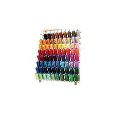 Set of 80 polyester embroidery thread on large Spools. 80 different colors in this set. Embroidery For Beginners, Sewing For Beginners, Sewing Tools, Sewing Projects, Sewing Machine Brands, Machine Embroidery Thread, Thread Holder, Plastic Caps, Thread Spools