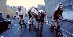 Maid of Ace - Bone Deth - Music Video http://bmxunion.com/daily/maid-of-ace-bone-deth/ #BMX #bike #girls #tattoos #music #band #song #scene #hot