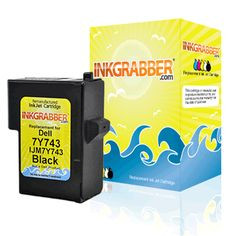 Black Remanufactured Inkjet Cartridge - Replaces the Dell 7Y743 / X0502 (Series 2) (Dell Inkjet A940, Dell Inkjet A960)