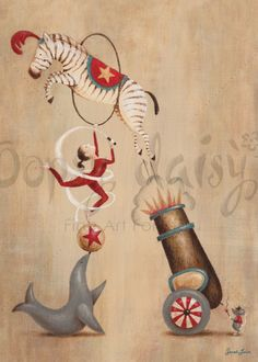 Vintage Circus Cannon - Circus Canvas Wall Art | Oopsy daisy
