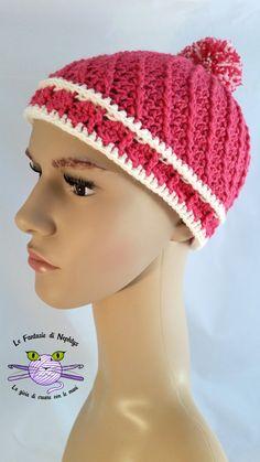 Handmade hat, crocheted with wool and acrylic yarn, soft and warm.  Yarn type: Rial Filati Soft Wool - 70% Wool, 30% Acrylic. Exception: Hat
