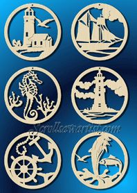 Scroll Saw Patterns :: Holidays :: Christmas :: Various ornaments :: Nautical ornaments -