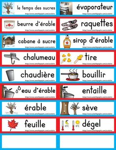 Core French, French Class, French Teacher, Teaching French, Winter Activities, Kindergarten Activities, Amelie Pepin, Sugar Bush, French Resources