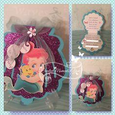 Invitación de Disney bebé Ariel concha