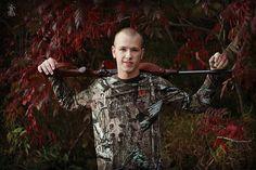senior boy hunting photo