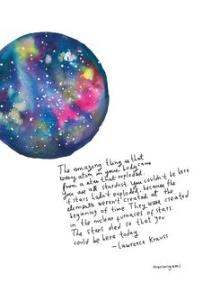 Stardust watercolor illustration