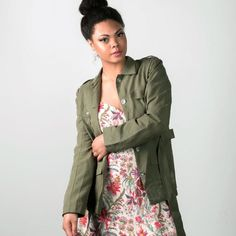The Yvanka Military Jacket   Khaki Jacket   Fair Trade   Ethical Fashion   MadeFAIR