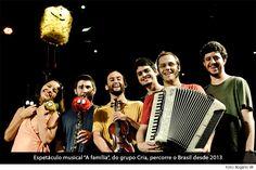 """Agência CAIXA de Notícias - Grupo Cria apresenta musical infantil """"A família"""" na CAIXA Cultural Curitiba"""