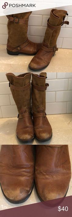 Camper Mil Boot Slouchy Leather and Suede Sz 39 Women's mid-calf Camper 'Mil' Boots. Leather and suede. Used condition with lots of life left! Size 39. See photos for flaws and wear. Camper Shoes