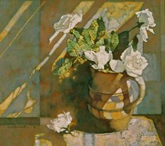 """""""White Roses"""" - Michael Dudash, 36×42cm"""