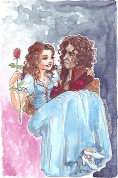 Once Upon a Time (Belle and Rumpelstiltskin) hahaha @Abby Christine Cabibbo :P I pinned this just for you :P