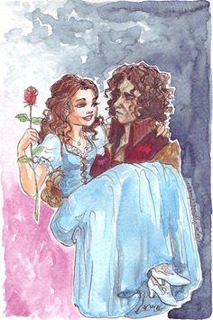 Sentimentos são  como uma canção para a Bela e à fera.