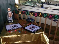 Autograph table. Guest sign a photo frame.
