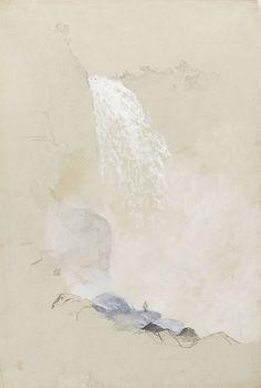 Frederic Edwin Church (American, 1826-1900),Study of Tequendama Falls near Bogotá, Colombia, 1853. Graphite wash and gouache on paper.