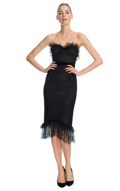 Chantilly Lace Corset Dress by Marchesa for Preorder on Moda Operandi $3750