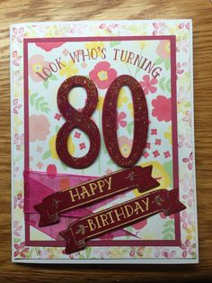 """Made using Stampin Up """"Number of Years"""" stamp set   ~    http://www.stampinup.com/ECWeb/default.aspx  In case anyone would like to order anything to make their own cards :*"""