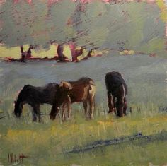"""Horse Painting Original Art Farm Ranch Landscape"" - Original Fine Art for Sale - © Heidi Malott"