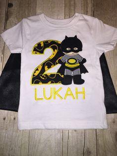 Custom Super Hero Batman Birthday Shirt with by ArtfullyAppliqued