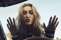 Getting up close and personal with @HaileyBaldwin in #HilfigerDenim MWA!H