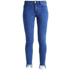 VIFRINGES Jeans Skinny Fit medium blue denim ❤ liked on Polyvore featuring jeans, skinny leg jeans, skinny jeans, blue colour jeans, skinny fit jeans and super skinny jeans