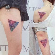 Floral triangle tat by Wonseok