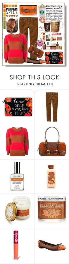 """""""Pumpkin Spice Style"""" by sheric62 ❤ liked on Polyvore featuring Casetify, Patagonia, Humanoid, Valentino, Demeter Fragrance Library, Sur La Table, Peter Thomas Roth, Lime Crime, Tod's and Tomas Maier"""