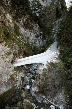 Schaufelschlucht Bridge - between Dornbirn and Ebnit - Vorarlberg Austria - Marte Marte Architects 2007