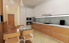 Modern kitchen design 3D model/rendering created in TurboCAD Pro | #TurboCAD #CAD