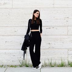 Flared Pants & Crop Top by NINACONINACO