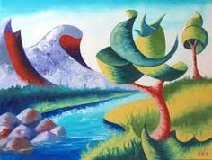 Image result for abstract landscape