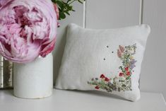 Learn hand embroidery, shop for haberdashery and antique linens. Join us on a creative retreat. Lavender Bags, Handmade Cushions, Hand Embroidery, Embroidery Hoops, Haberdashery, Needlework, Throw Pillows, Quilts, Creative