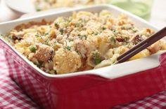 Homemade Tuna Casserole Recipe: 23 g protein, 4 g fiber, 380 hearty calories