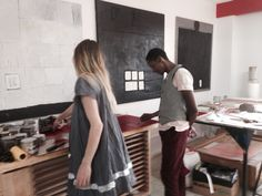 Artists Freya Wissing and Senzo At David Krut printing studios!