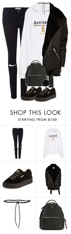 """""""Sem título #1357"""" by oh-its-anna ❤ liked on Polyvore featuring Frame, Vetements, Puma, Acne Studios, Aamaya by Priyanka, Fendi and Topshop"""