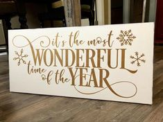 Its the most wonderful time of the year Farmhouse Christmas sign Rustic wooden sign Modern farmhouse wood sign approx. Christmas Tree Farm, Christmas Signs, Christmas Art, Christmas Projects, White Christmas, Christmas Plaques, Primitive Christmas, Country Christmas, Rustic Wood Crafts
