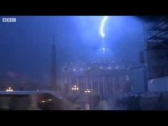 Lightning Strikes St Peters Basilica As Pope Benedict XVI Resigns
