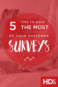 Surveys can be a HUGE headache. But they're one of the best way to get valuable feedback on your performance. Here's help to write the best survey questions possible! Pin and click through for a helpful read. // 5 Tips to Make the Most of Your Customer Surveys | Hoot Design Co.